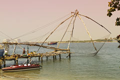 Famous nets of cochin Stock Photo