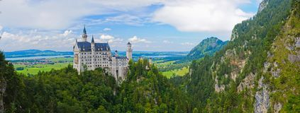 Famous neuschwanstein castle. Stock Photos