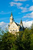 Famous Neuschwanstein castle in Fussen, Bavarian Alps, Germany Royalty Free Stock Photo