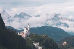 Famous Neuschwanstein Castle. Germany, European landmark royalty free stock photography