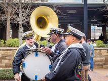 Famous New Orleans Band TREME at Mardi Gras Block Party Stock Image