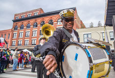 Famous New Orleans Band TREME at Mardi Gras Block Party Stock Images