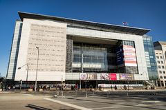 Famous Newseum in Washington, DC Royalty Free Stock Images