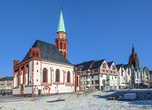 Famous Nikolai Church in Frankfurt am Main Royalty Free Stock Images
