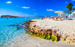 Famous Nissi beach. Royalty Free Stock Photos