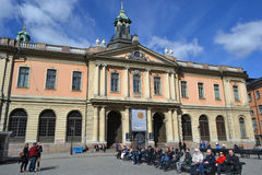 Famous Nobel Academy in Stockholm. Royalty Free Stock Photo