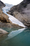 Famous Norway Ice Glacier Royalty Free Stock Photos