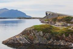 Famous norwegian Atlantic Ocean Road, Norway Stock Photography