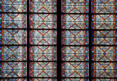 Famous Notre Dame cathedral stained glass Stock Photos