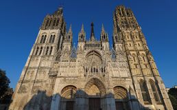 Famous Notre-Dame de Rouen cathedral at sunny day, Rouen, France