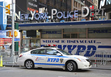 Famous NYPD Times Square Precinct in Midtown Manhattan Royalty Free Stock Images