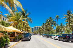 The famous Ocean Drive Avenue in Miami Beach, USA Stock Image