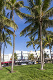 The famous Ocean Drive Avenue in Miami Beach Stock Photography