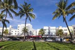 The famous Ocean Drive Avenue in Miami Beach Stock Image