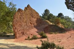 The ochre of Luberon in France Stock Images