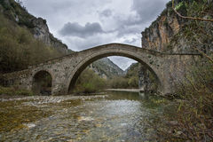 Famous old arch bridge in Zagoria, Greece Royalty Free Stock Image