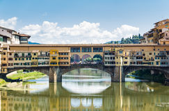 Famous Old Bridge in Florence, Italy Royalty Free Stock Photos