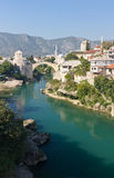 Famous Old Bridge in Mostar,. Famous Old Bridge on the Neretva River in Mostar, Bosnia and Herzegovina Royalty Free Stock Photo