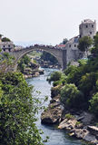 Famous old bridge. In Mostar, Bosnia Royalty Free Stock Image