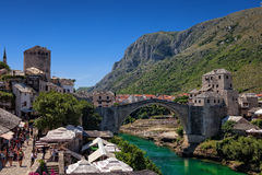 Famous Old Bridge in Mostar Royalty Free Stock Image