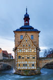Famous Old City Hall of Bamberg Stock Photos