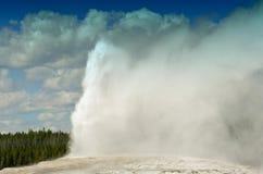 Old Faithful, Yellowstone National Park stock images