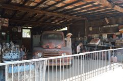 Old Mechanical Workshop At HackBerry royalty free stock images