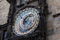 Famous old medieval astronomical clock in Prague Royalty Free Stock Images