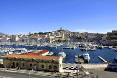The famous old port of Marseille Royalty Free Stock Photography