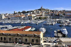 The famous old port of Marseille Stock Photos