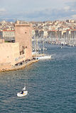 Famous old port of Marseilles, France Stock Image