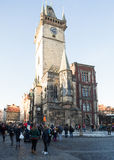 Famous old Prague Astronomical Clock -Prague Orloj Royalty Free Stock Images