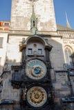 Famous old Prague Astronomical Clock -Prague Orloj. Famous very old Prague Astronomical Clock -Prague Orloj at Old Town square Royalty Free Stock Photo