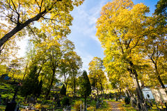 Famous old Rasu cemetery in Vilnius, Lithuania Royalty Free Stock Image