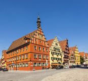 Famous old romantic medieval town of Dinkelsbuehl Royalty Free Stock Images