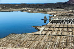 Famous old Saline in Janubio, Lanzarote Stock Images
