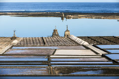 Famous old Saline in Janubio, Lanzarote Royalty Free Stock Photography