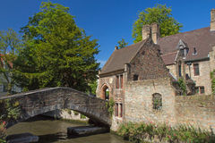 The famous old stone bridge in Bruges Royalty Free Stock Photography