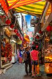 Famous Old Street of Jiufen in Taiwan Royalty Free Stock Photography