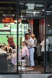 A famous old style barber shop in Spitalfields narket, London, Royalty Free Stock Photo