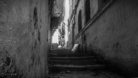 The famous old town in algiers, Casbah. stock photos