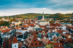 Famous Old town Cesky Krumlov in Czech republic Royalty Free Stock Images
