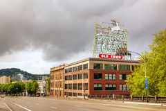 Famous Old Town Portland Oregon neon sign Stock Photos