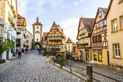 Famous old town of Rothenburg Royalty Free Stock Photos