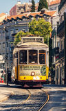 Famous old tram in Lisbon Royalty Free Stock Image