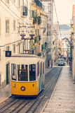 Famous old tram in Lisbon Stock Photography