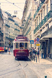 Famous old tram in Lisbon Royalty Free Stock Images