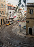 Famous old tram in Lissabon Stock Photo