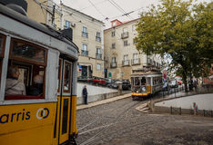 Famous old tram in Lissabon Stock Images