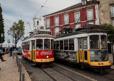 Famous old tram in Lissabon Royalty Free Stock Photo